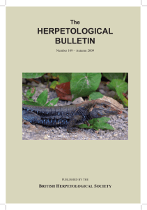 View - The British Herpetological Society