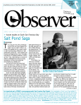 Observer 125, Notes From the Field