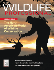 The Wildlife Professional - Fall 2010