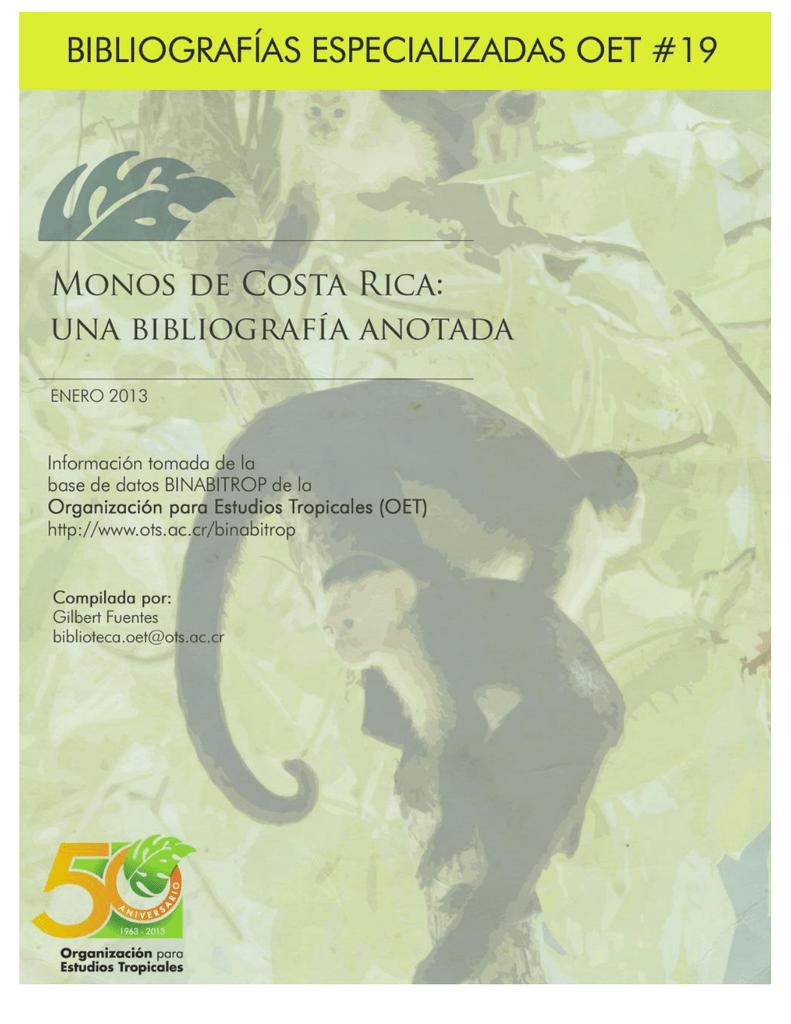 800687325f Monos de Costa Rica - Organization for Tropical Studies