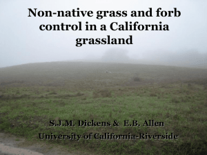Exotic grass and forb control in a California grassland - Cal-IPC