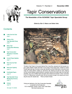 now - Tapir Specialist Group