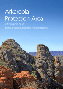 Arkaroola Protection Area Draft Management Plan 2015
