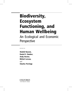 Biodiversity, Functioning - School of Natural Resources and
