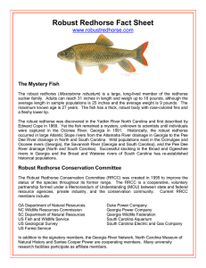 Factsheet - Robust Redhorse Conservation Committee
