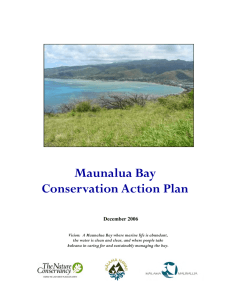 Maunalua Bay Conservation Action Plan