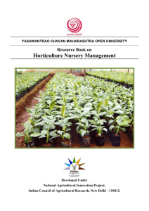 Horticulture Nursery Management