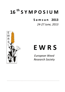 to see them, pdf - 3.0 Mb - European Weed Research Society