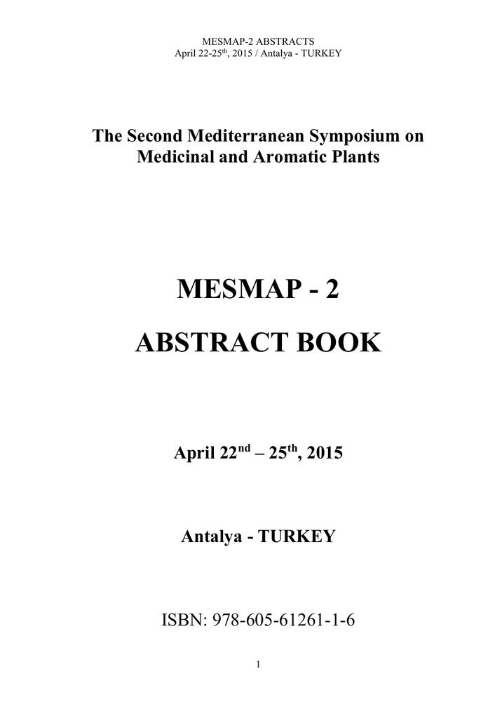 mesmap 2 abstract book