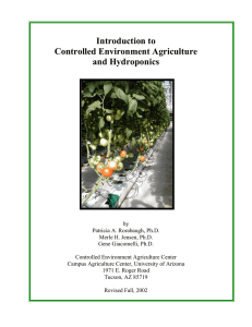Introduction to Controlled Environment Agriculture and Hydroponics