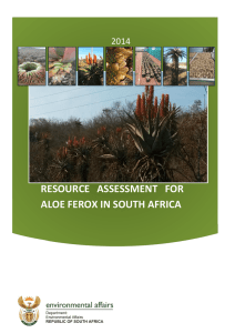 RESOURCE ASSESSMENT FOR ALOE FEROX IN SOUTH AFRICA