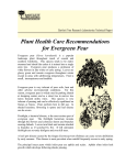 Plant Health Care Recommendations for