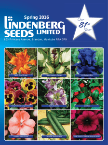 2016 Lindenberg Seeds Catalogue