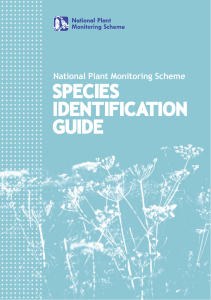 species identification guide - National Plant Monitoring Scheme