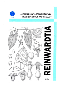 a journal on taxonomic botany, plant sociology