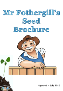 Seed Brochure - Mr. Fothergill`s
