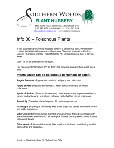 Info 30 - Poisonous Plants