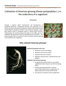 Cultivation of American ginseng