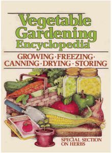 Vegetable Gardening Encyclopedia with Special Herb Section
