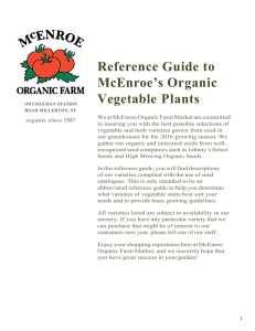 Reference Guide to McEnroe`s Organic