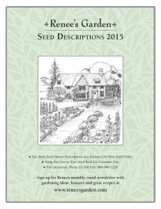 Seed deScriptionS 2015
