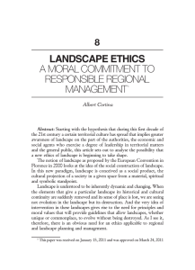 LaNdscaPe ethIcs a moral commitment to responsible regional