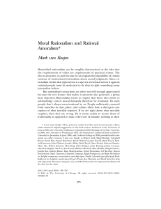 Moral Rationalism and Rational Amoralism