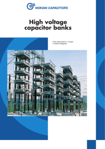 High voltage capacitor banks