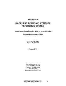 microEFIS BACKUP ELECTRONIC ATTITUDE REFERENCE SYSTEM