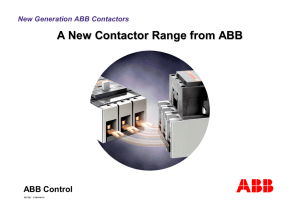 A New Contactor Range from ABB