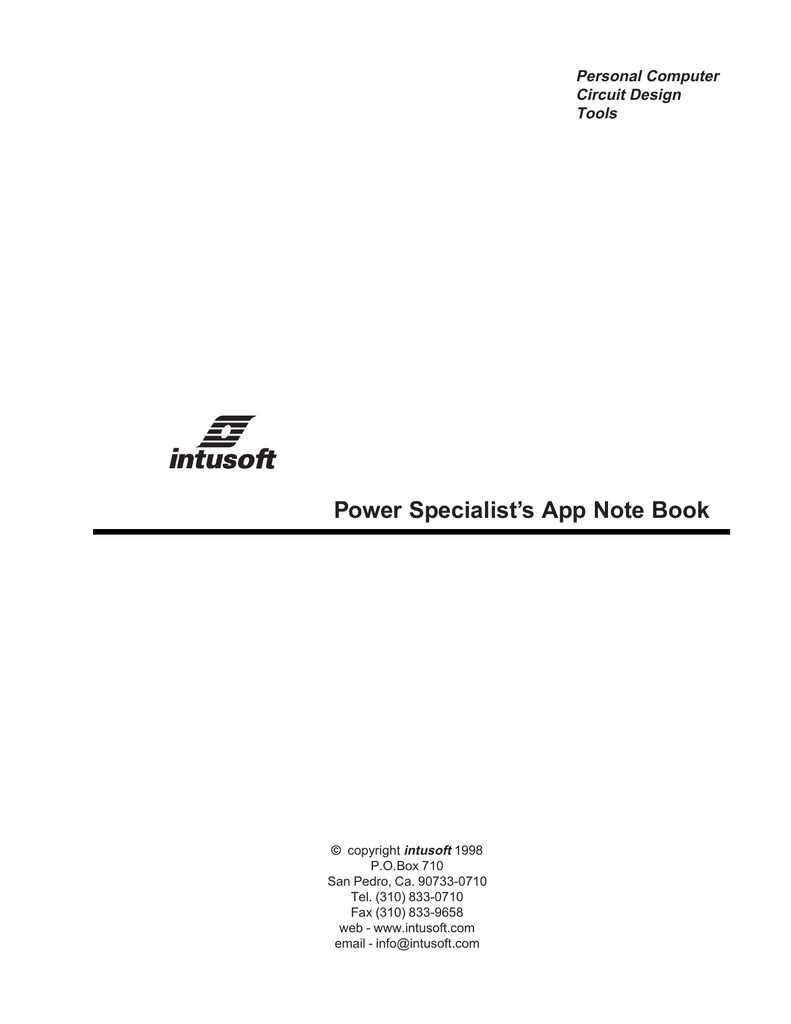 Power Specialist`s App Note Book