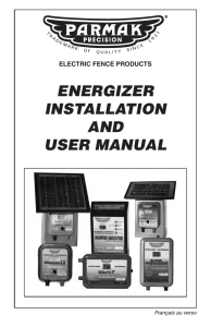 energizer installation and user manual