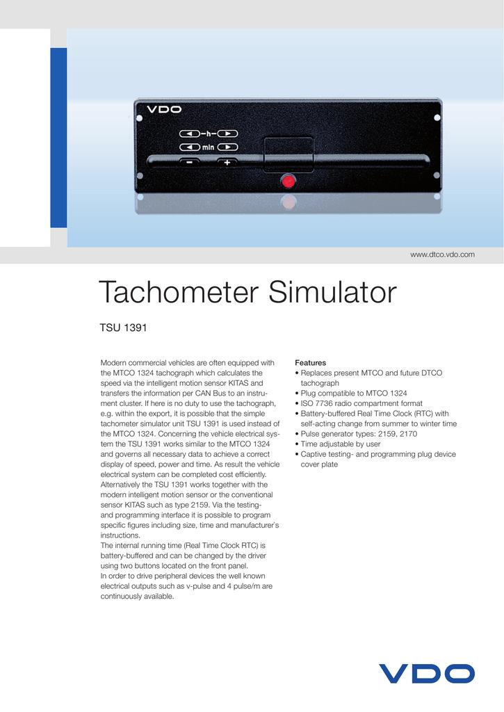 vdo kitas wiring diagram tachometer simulator tachograf  tachometer simulator tachograf