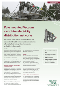 Pole mounted Vacuum switch for electricity distribution networks