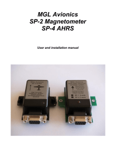 SP-2 and SP-4 User and Installation Manual