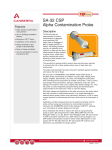 SA-32 CSP Alpha Contamination Probe Data Sheet