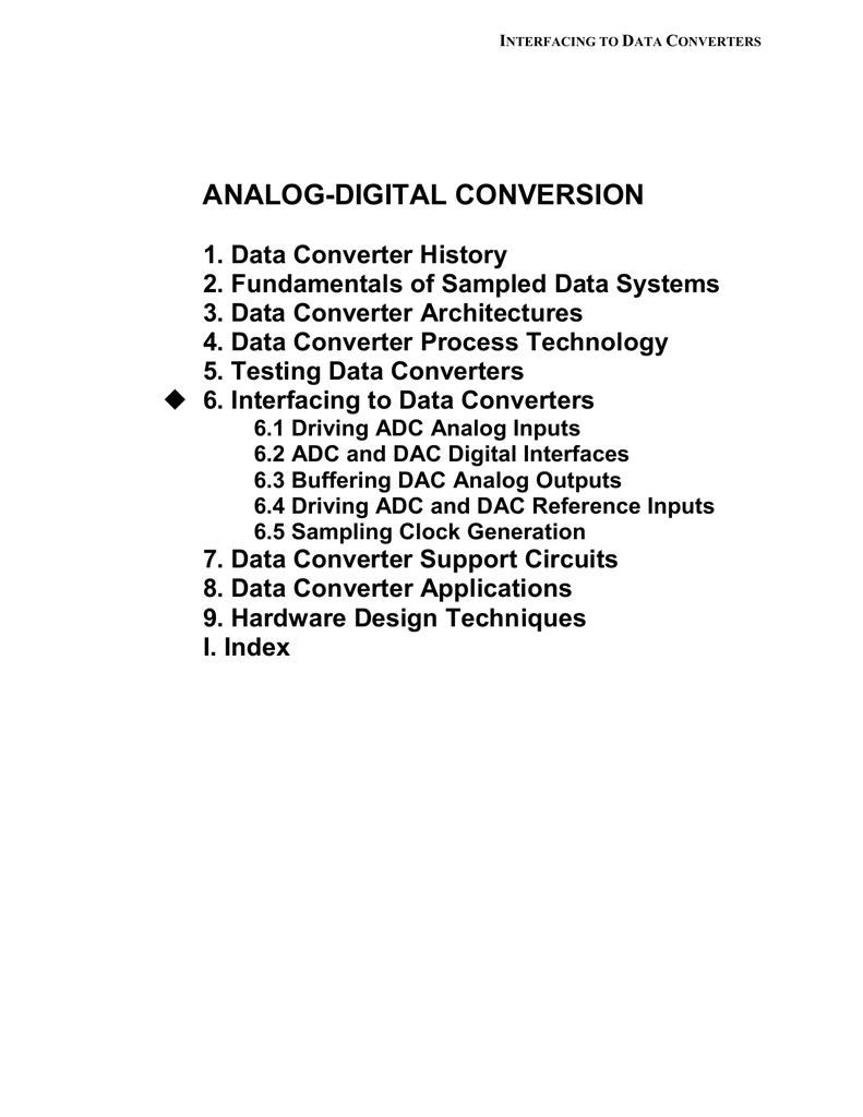 Chapter 6 Interfacing To Data Converters Converter1 Adconverter Addaconvertercircuit Circuit