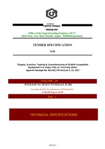 Specs Part I - Jaipur Vidyut Vitran Nigam Limited ,Government of