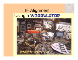 IF Alignment - Canadian Vintage Radio Society
