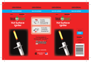 Hot Surface Igniter Hot Surface Igniter - media