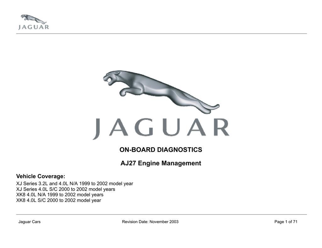 Jaguar OBDII Revised 11-2003