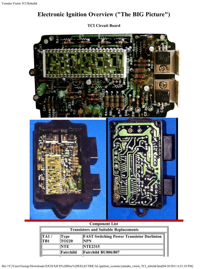 Yamaha Vision TCI Rebuild