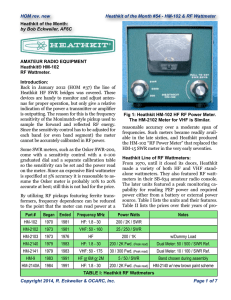 Heathkit HM-102 - Orange County (California) Amateur Radio Club