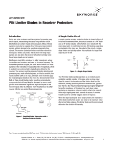 PIN Limiter Diodes in Receiver Protectors