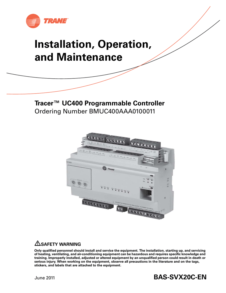 Tracer™ UC400 Programmable Controller on