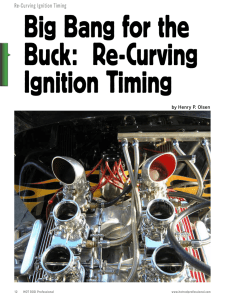 Re-Curving Ignition Timing