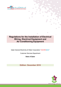 Regulations for the Installation of Electrical Wiring, Electrical