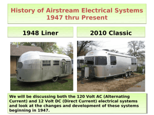 History of Airstream Electrical Systems 1947 thru
