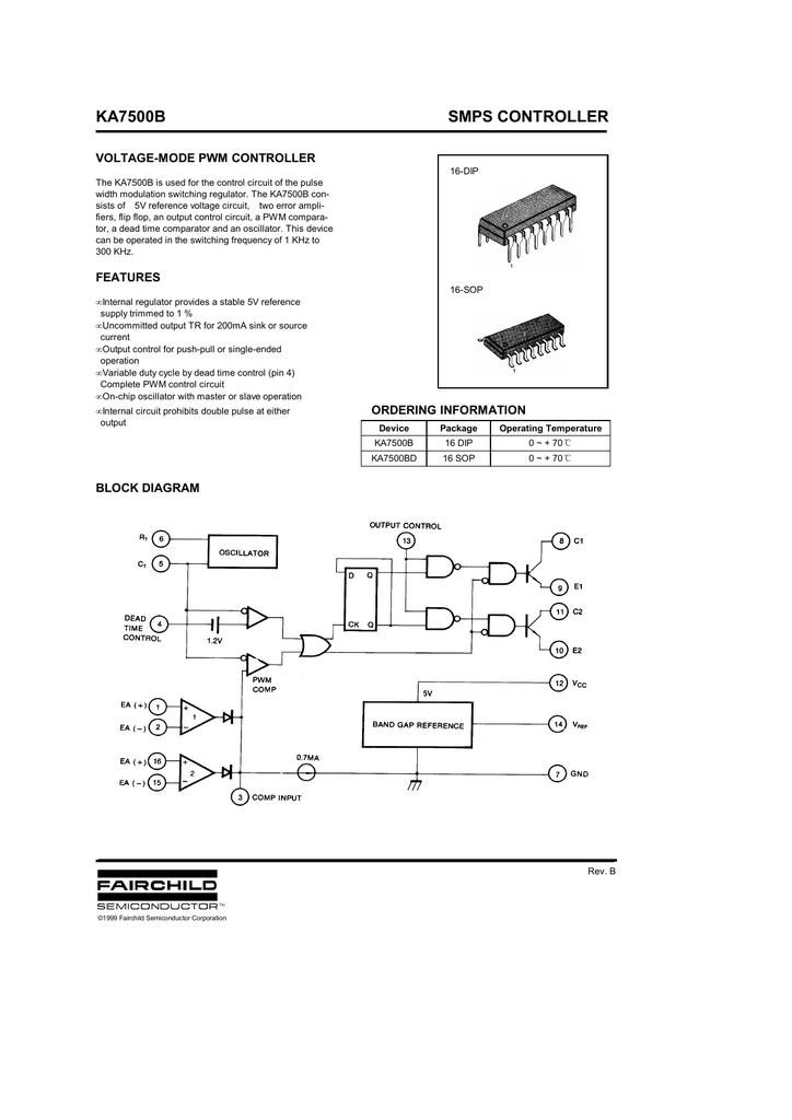 KA7500B Datasheet