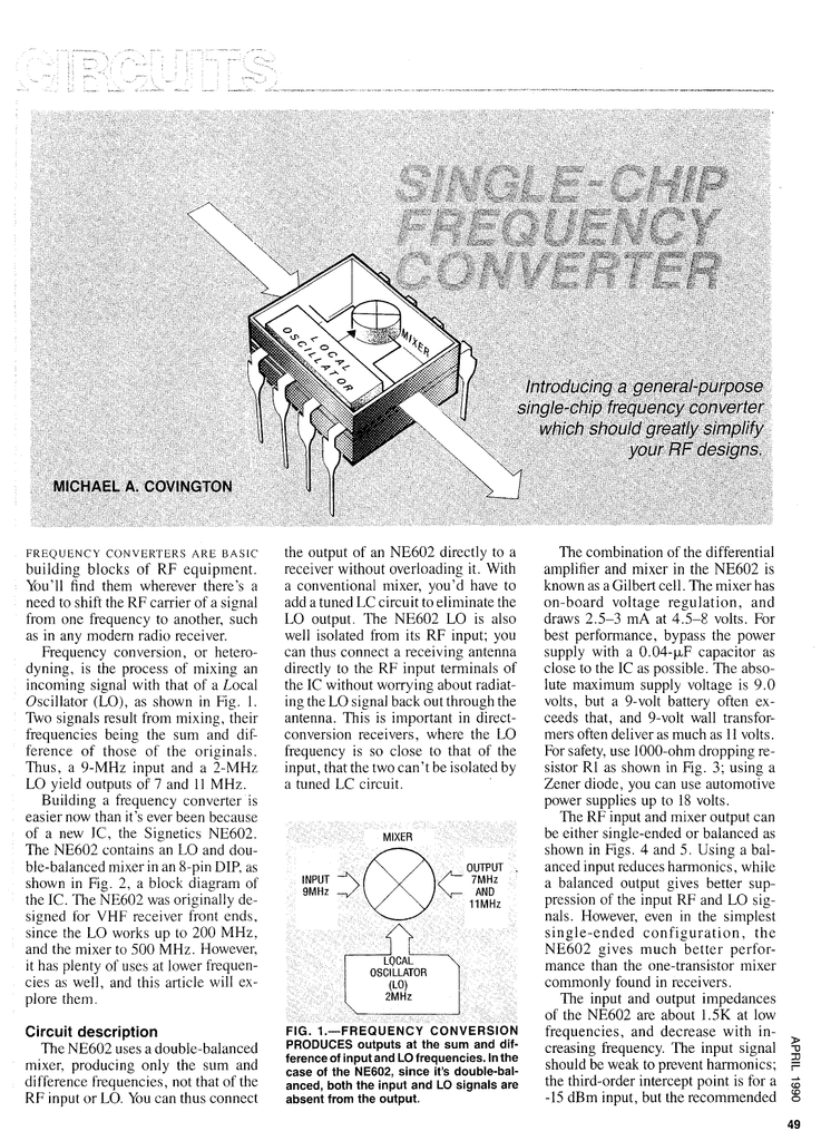 Circuits - Single-Chip Frequency Converter